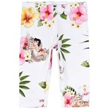 Monnalisa White Floral Jungle Book Print Leggings