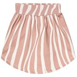 Popupshop Rose Pink Zebra Stripe Moon Skirt