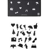 Design Letters 20 Pack of Black Party Icons for Message Board