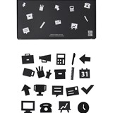Design Letters Pack of 20 Black Office Icons for Message Board