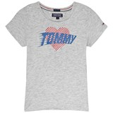 Tommy Hilfiger Grey Heather Ame Heart Logo T-Shirt