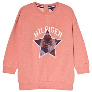 Tommy Hilfiger Coral Star Patch Branded Crew Sweater 3 years