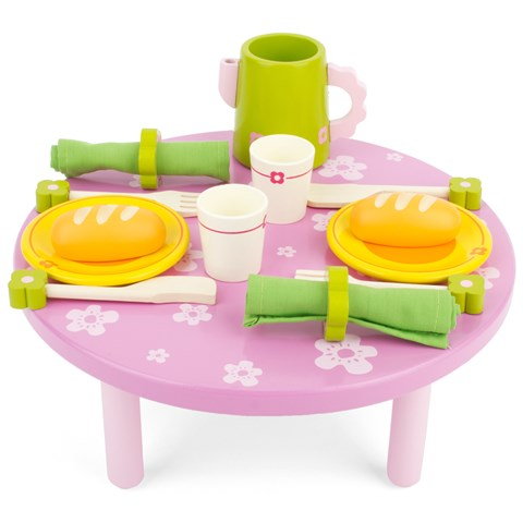 Djeco Lunch with Friends Wooden Table Set