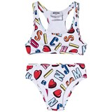 Moschino White Heart Branded Bikini