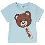 Moschino Blue Bear Ice Cream Print T-Shirt