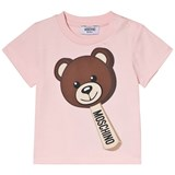 Moschino Pink Bear Ice Cream Print T-Shirt
