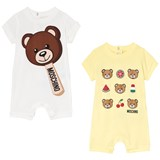 Moschino Pack of 2 Bear Print Rompers