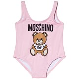 Moschino Pink Bear Print Swimsuit