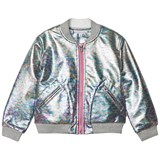 Little Marc Jacobs Silver Oil Effect Bomber Jacket