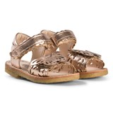 Angulus Rose Gold Butterfly Open Toe Sandals
