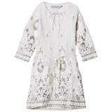 How To Kiss A Frog Off White Sunny Embroidered Tunic Dress