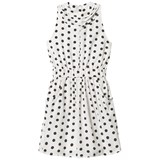 How To Kiss A Frog White Polka Dot Ruffle Dress
