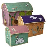 RICE A/S Set of 3 Ugly Duckling Print Toy Baskets