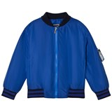 Young Versace Blue Branded Back Bomber Jacket