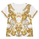 Young Versace White Baroque Print T-Shirt