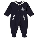 Young Versace Navy Sailor Style Branded Babygrow