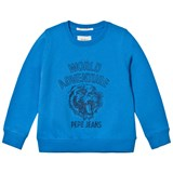 Pepe Jeans Blue Ronald World Adventure Tiger Graphic Crew Sweater