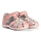 Start-rite Pink Leather Primrose Sandal With Flower