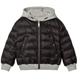 Burberry Black Padded Coat Reversible into Grey Marl