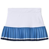 Poivre Blanc White, Blue and Navy Pleated Tennis Skirt
