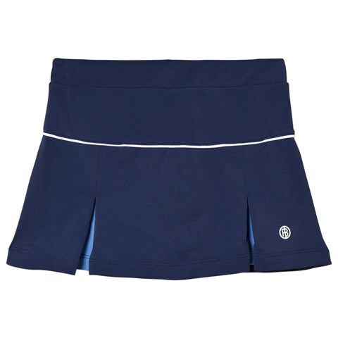 Poivre Blanc Navy with Blue Inverted Pleat Tennis Skort