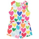 Agatha Ruiz de la Prada Coloured Heart Print Playsuit