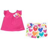 Agatha Ruiz de la Prada Pink Love Heart T-Shirt and Love Hearts Print Shorts