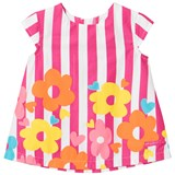 Agatha Ruiz de la Prada Pink Striped Flower Print Dress
