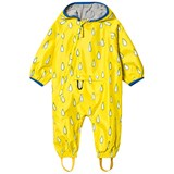 Muddy Puddles Yellow Raindrop Lined Rain Suit