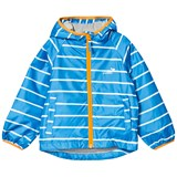 Muddy Puddles Blue And White Striped Lined Puddlepac Jacket