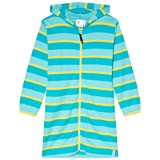 Geggamoja Turquoise and Yellow Stripe Bathrobe