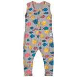 Indikidual Grey Multi Coloured Fish Print Sleeveless Jumpsuit