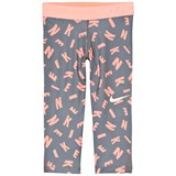 Nike Orange Pro Printed Capri Leggings