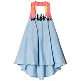 RaspberryPlum Blue Sleeveless Piano Dress