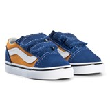 Vans Blue and Orange Old Skool Velcro Sneakers