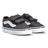 Vans Black Old Skool Velcro Glitter Trainers