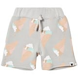 Tobias & The Bear Grey Ice Cream Print Sweat Shorts