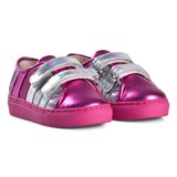 Minna Parikka Hot Pink and Silver with Multi Coloured Stripes Sneakers