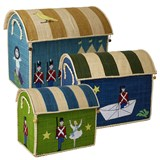 RICE A/S Toy Baskets with The Steadfast Tin Soldier Theme Set of 3