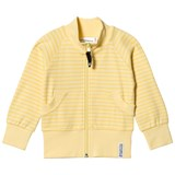 Geggamoja Yellow Striped Zip Sweater