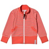 Geggamoja Red and White Striped Zip Sweater