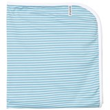 Geggamoja Blue and White Striped Baby Blanket