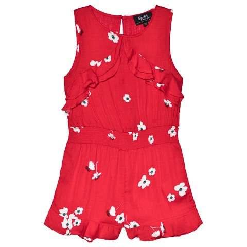 76706fca5a Bardot Junior Red Floral Ruffle Playsuit