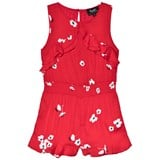 Bardot Junior Red Floral Ruffle Playsuit
