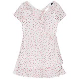 Bardot Junior White and Red Spot Frill Dress