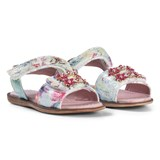 Lelli Kelly Pale Pink Floral Brooch Velcro Sandals