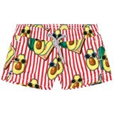 MC2 St Barth Red Striped Pinapple Print Trunks