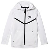 Nike White Nike Sportswear Tech Fleece Windrunner Hoodie