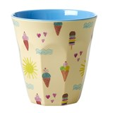 RICE A/S Melamine Cup with Summer Print Two Tone Medium