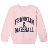 Franklin & Marshall Pink Marl Branded Sweatshirt